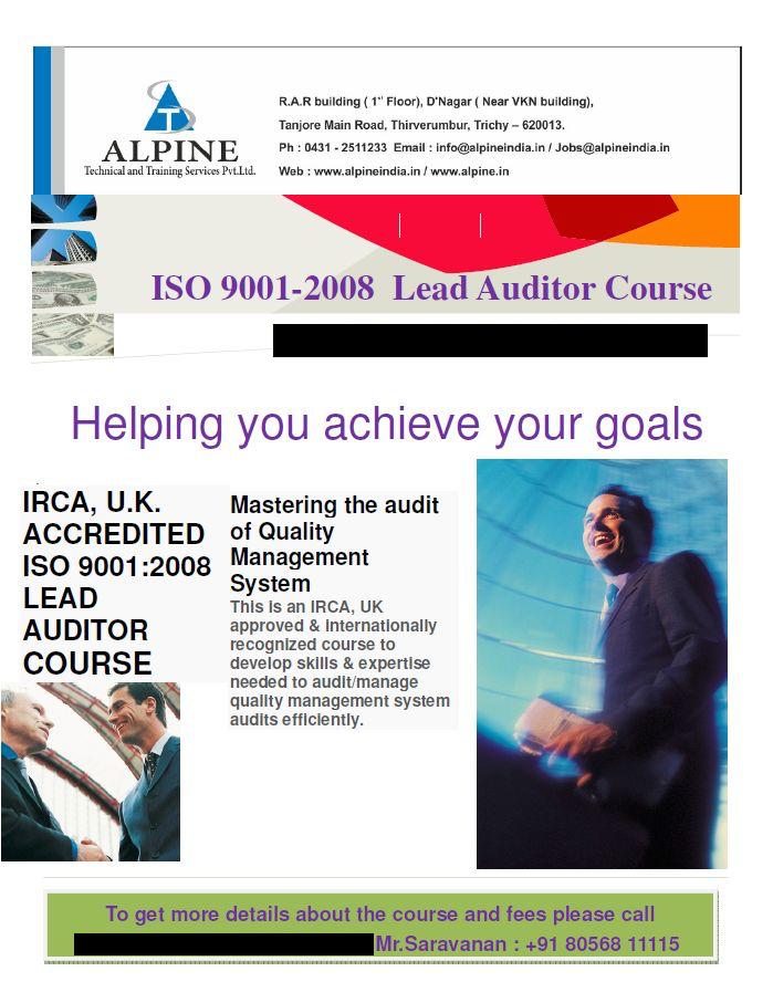 iso 9001 training courses uk